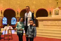 Yoann et ses deux enfants